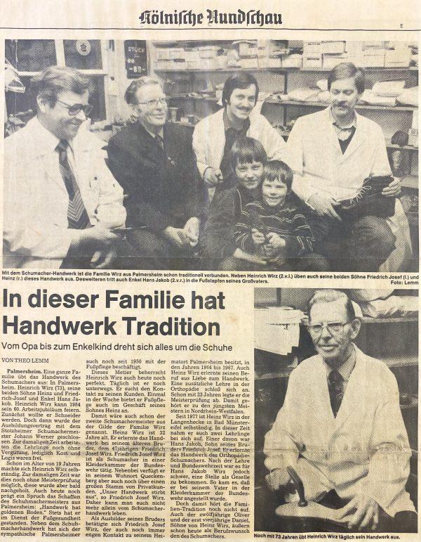Kölnische Rundschau von März 1983